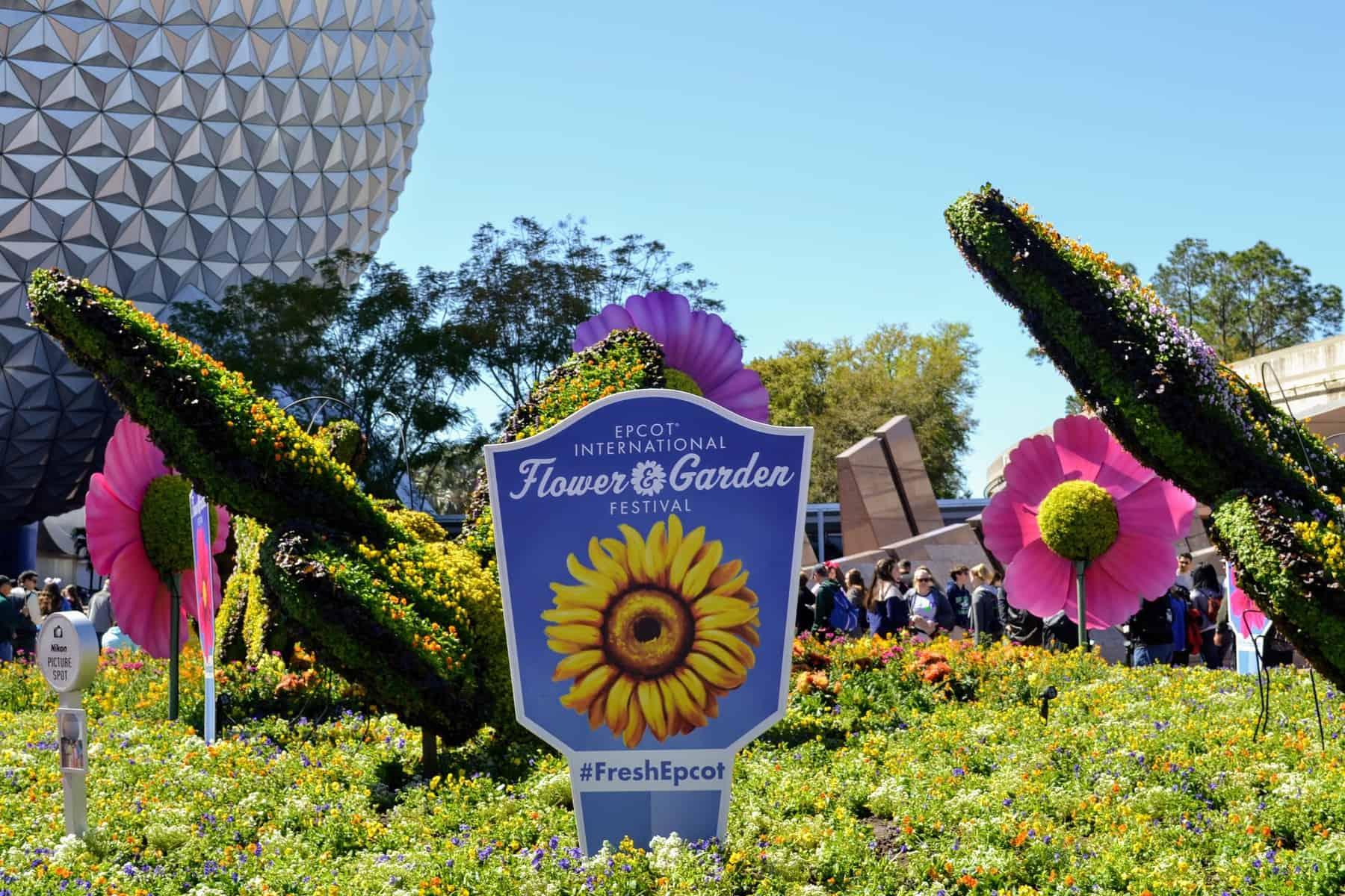 Epcot's Flower & Garden Festival entrance