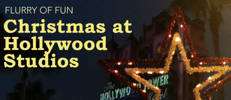 flurry of fun christmas at hollywood studios