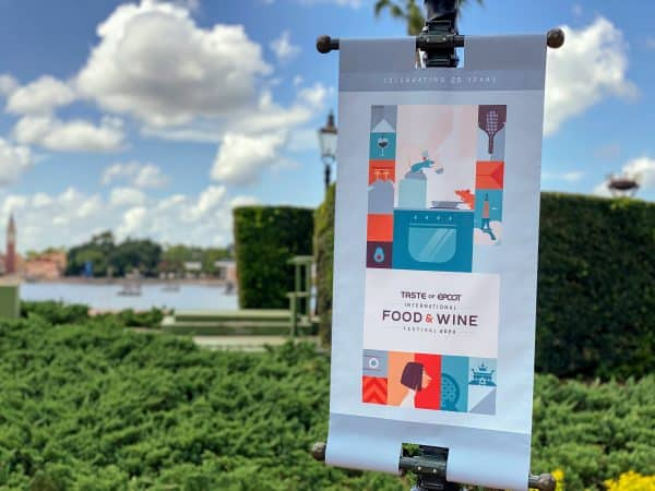 2020 Food and Wine Festival banner in World Showcase