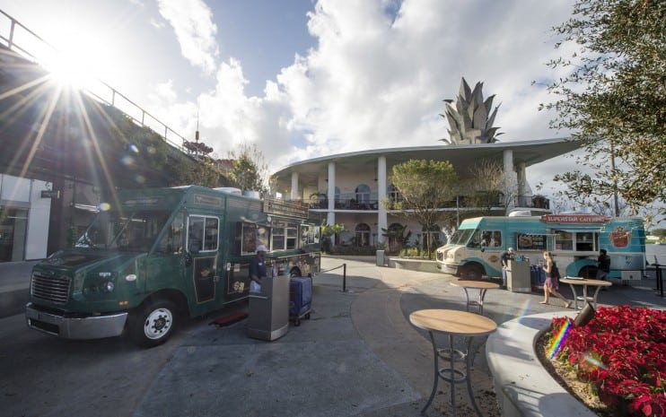 Pros and Cons for All Disney Springs Restaurants - Exposition Park Food Trucks (dinner)
