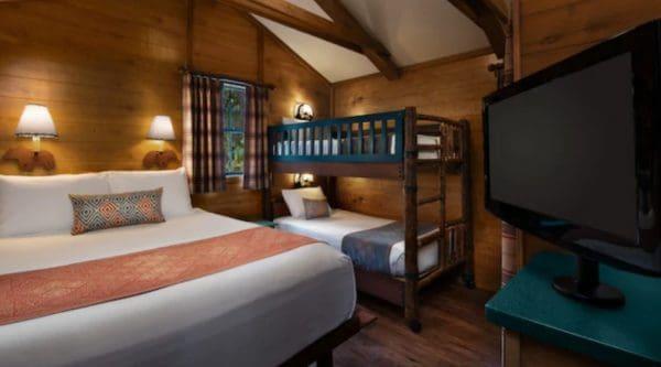 Bedroom at Disney's Fort Wilderness Cabins