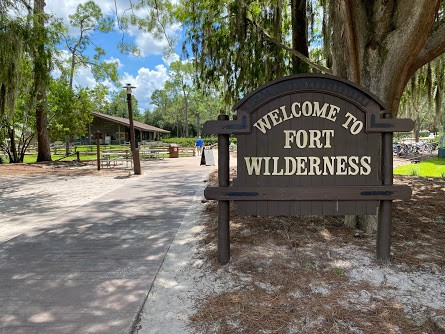 fort wilderness welcome sign