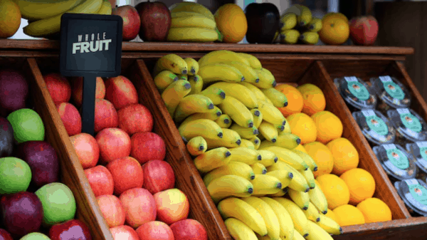 Disneyland fruit cart