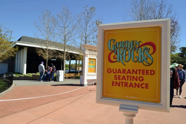 Garden Rocks Guaranteed Seating entrance at Epcot's Flower & Garden Festival
