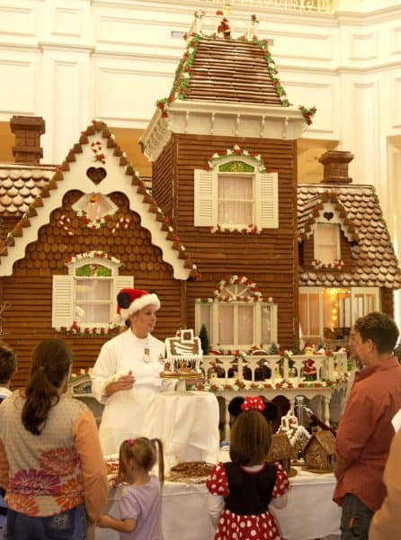 gingerbreadhouse 446x600 - The holidays at Disney World - Candlelight Processional Dining Packages on sale July 11