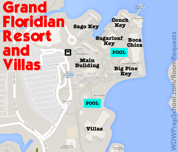 grandfloridianmap 600x515 - How to get the Disney World resort room you want