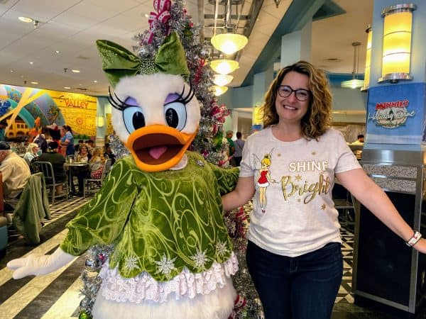 Daisy Duck at Minnie's Holiday Dine at Hollywood and Vine character meal