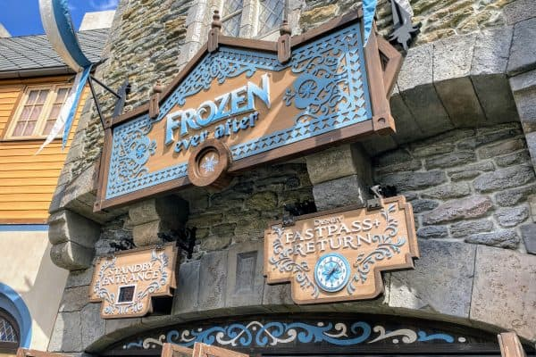 Frozen Ever After sign
