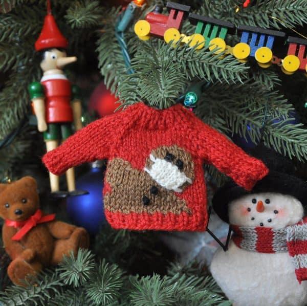 handmade mary ellen sweater knitted ornament