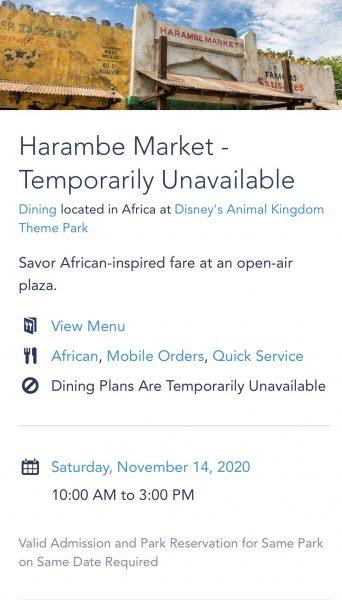 Harambe Market reopening