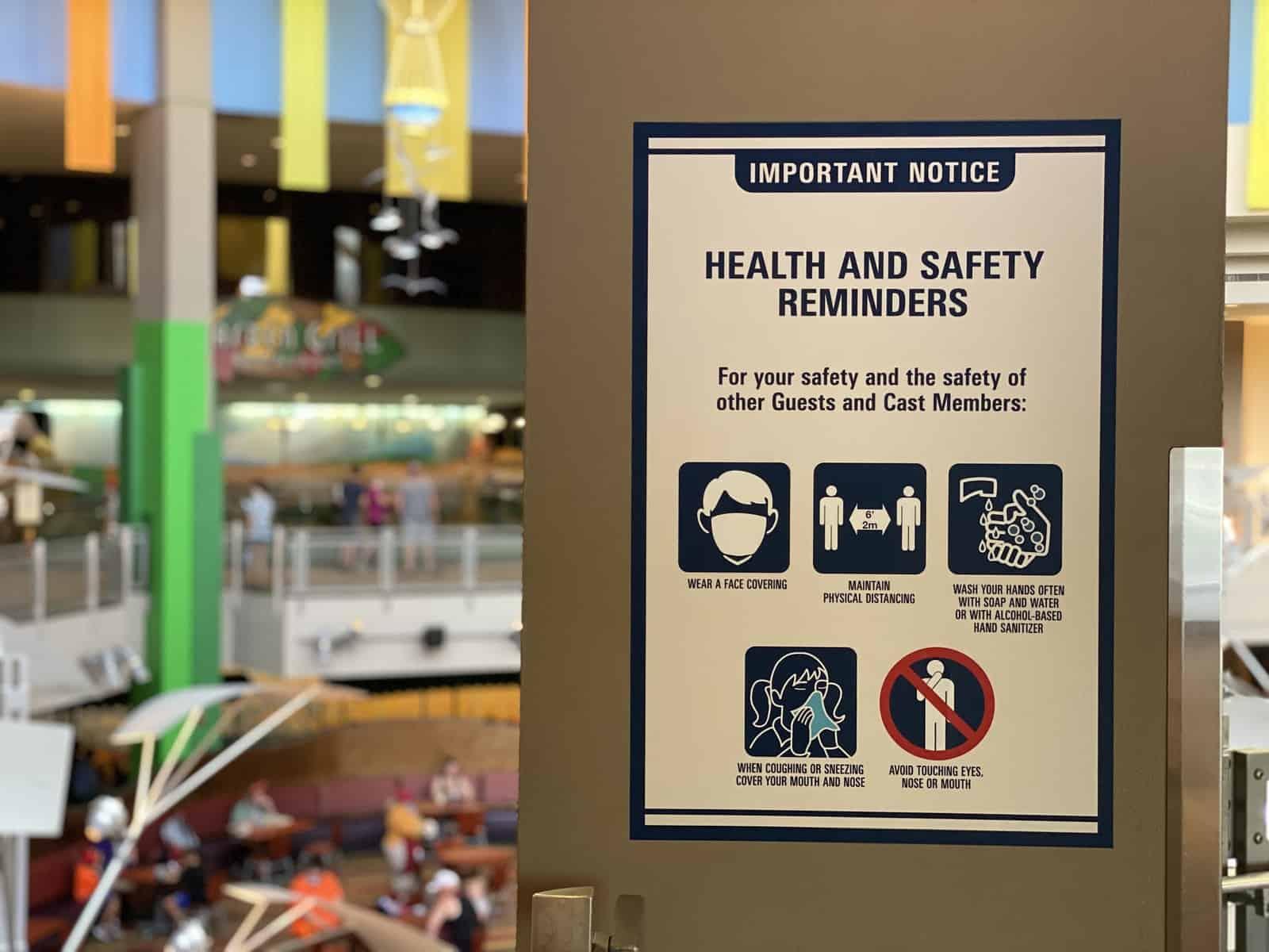 Walt Disney World health and safety reminders