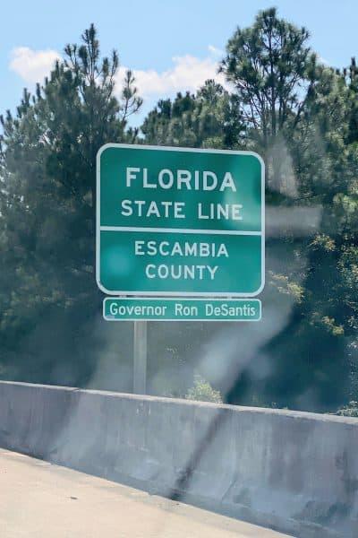 FLorida State Line Sign