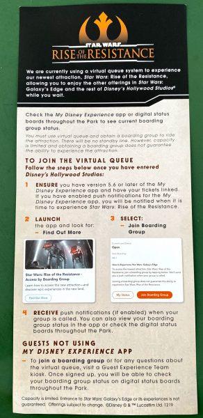 Virtual Queue flyer