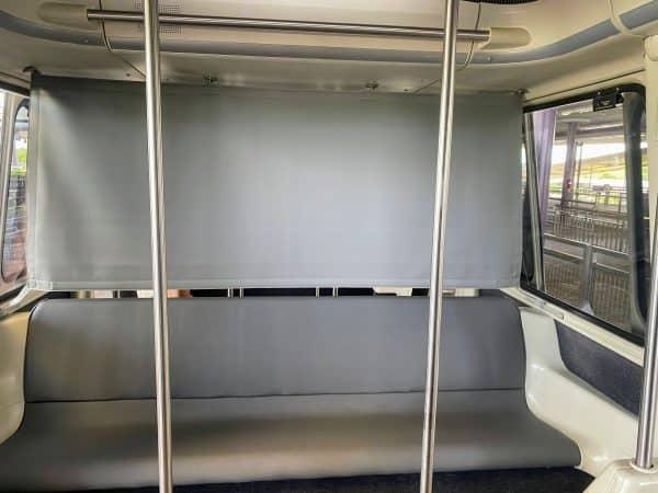 Monorail car divided