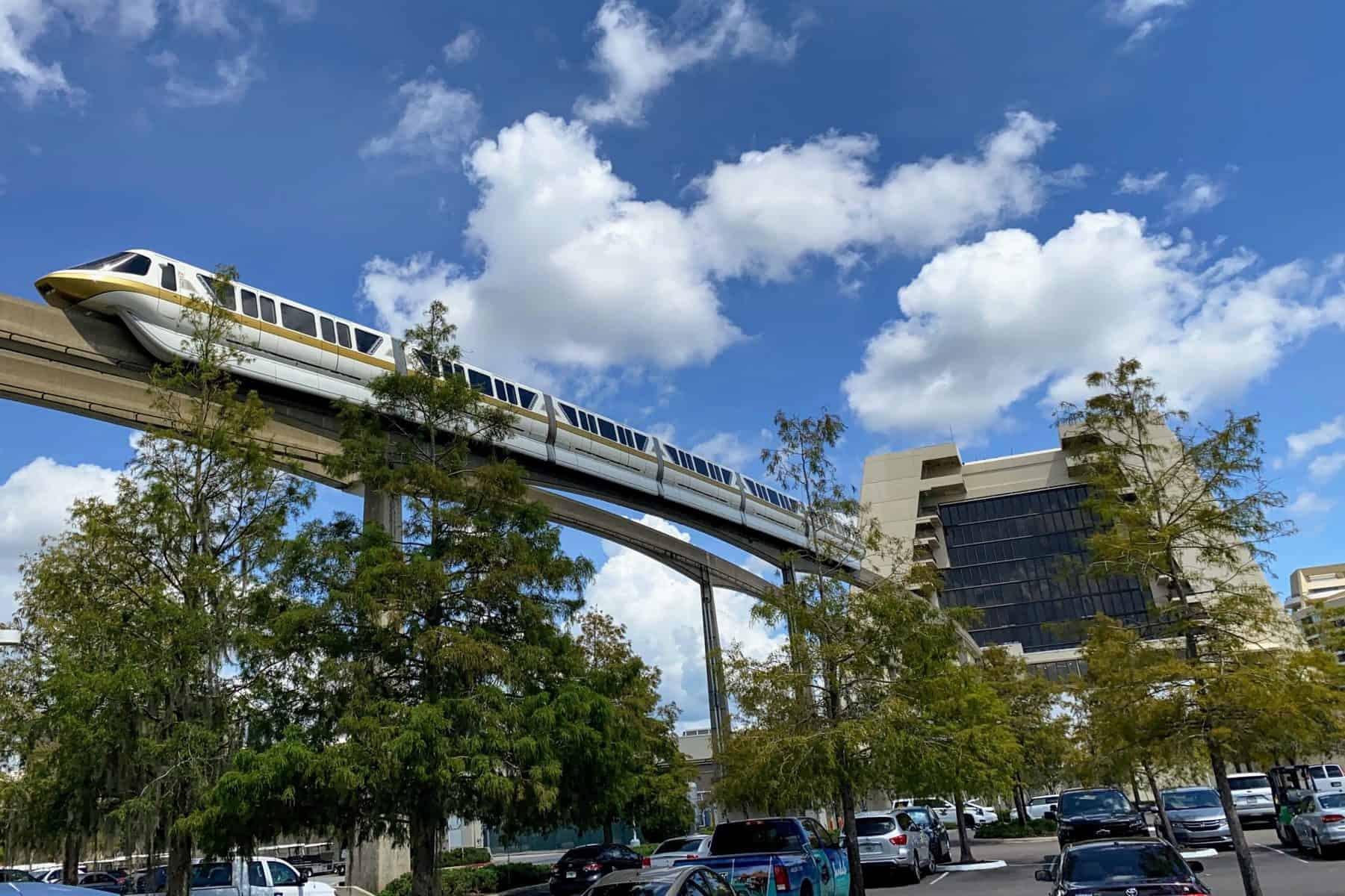 Monorail going into the Contemporary