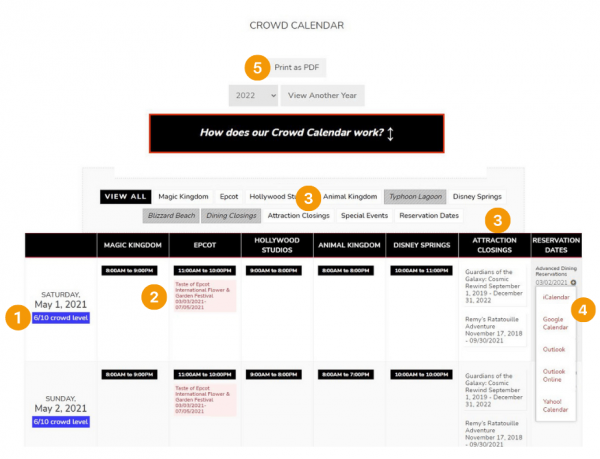 How the Crowd Calendars work