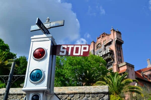 Stoplight and Tower of Terror