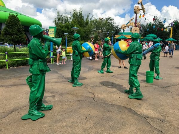 Green Army Men in Toy Story Land