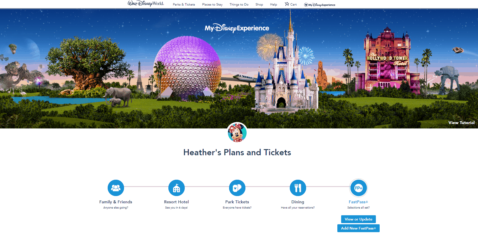 FastPass+ in My Disney Experience