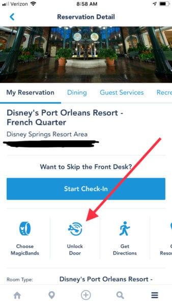 Unlock door with My Disney Experience