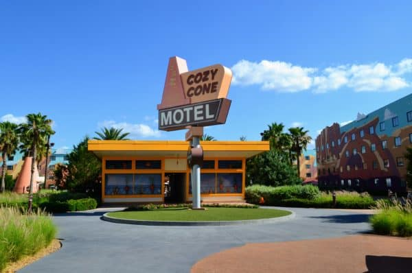 Art of Animation cars section motel sign