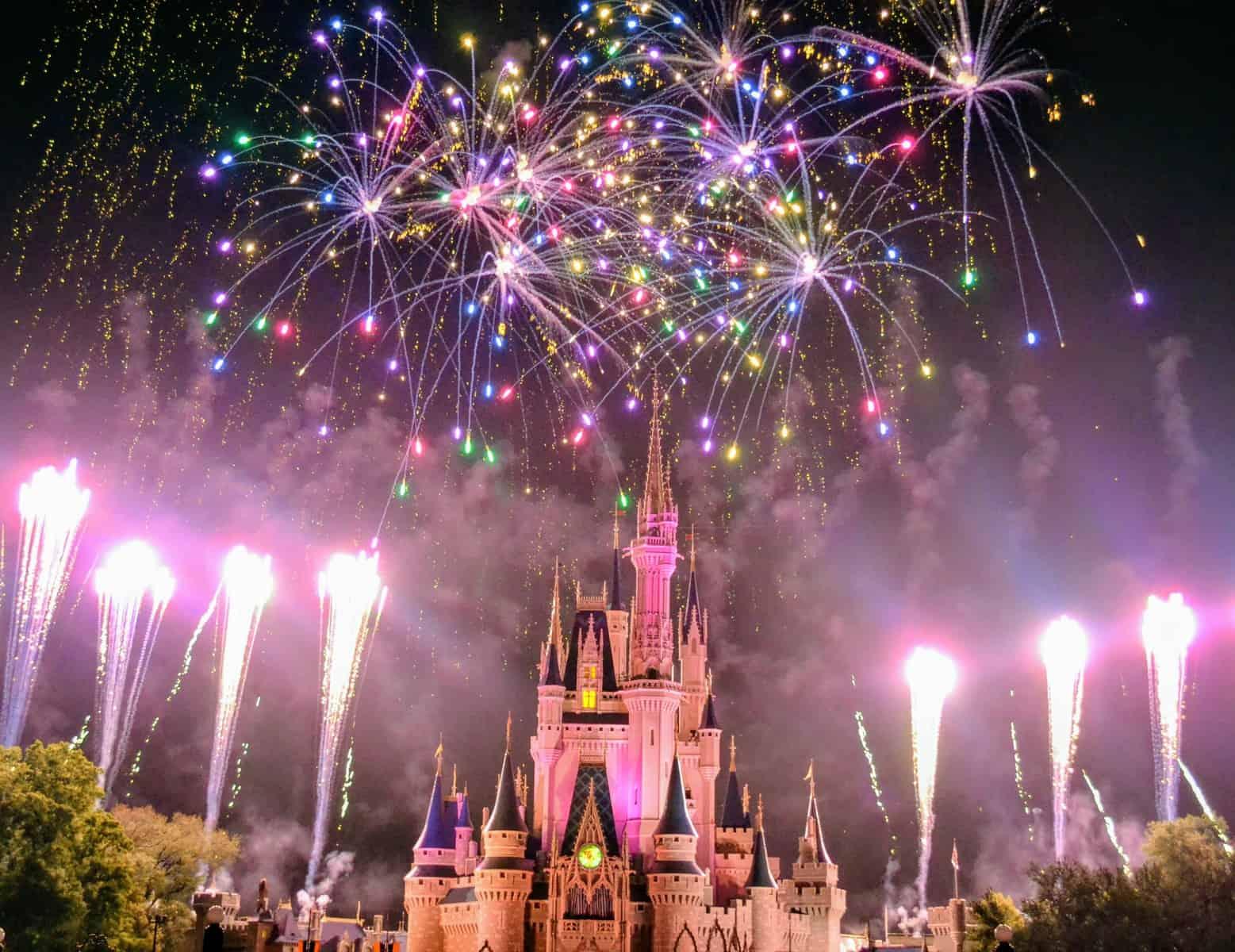 Cinderella Castle fireworks