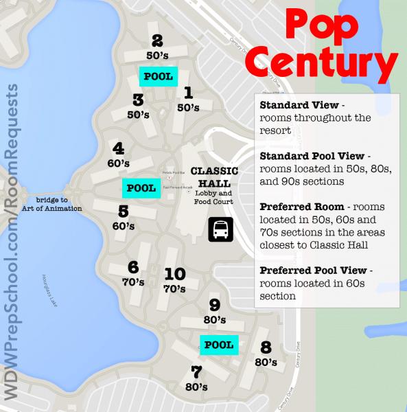 pop century map walt disney world