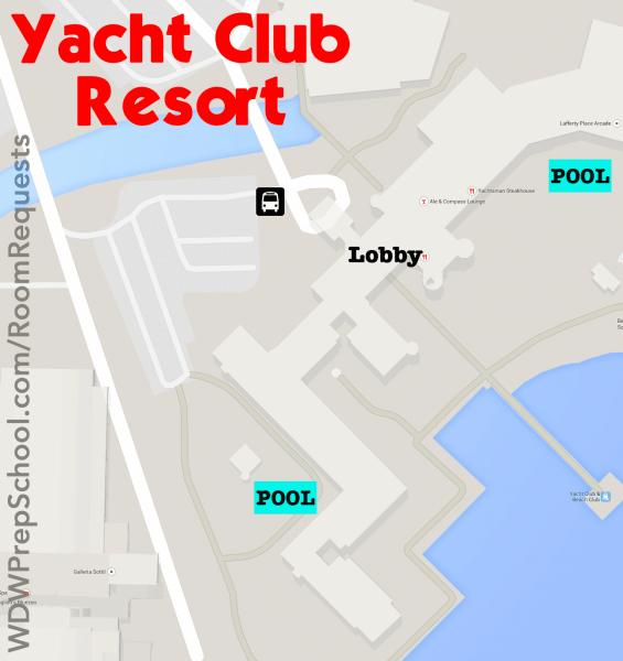yacht club resort map walt disney world