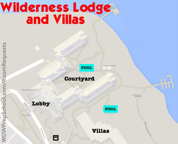 wilderness lodge and villas map walt disney world