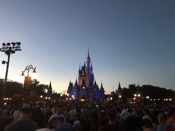 Magic Kingdom before fireworks