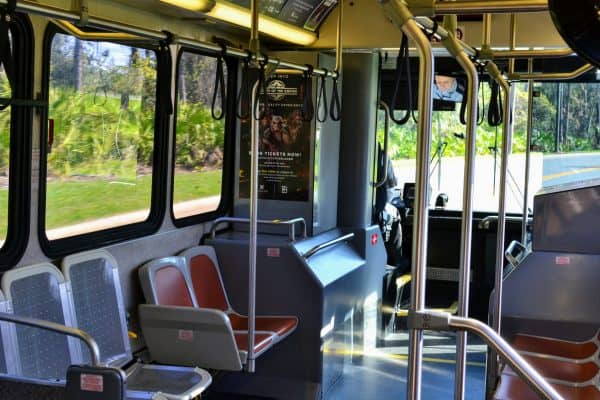 Disney bus interior seats