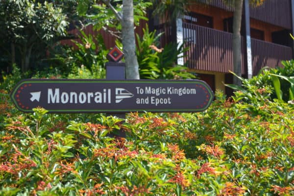Poly monorail sign