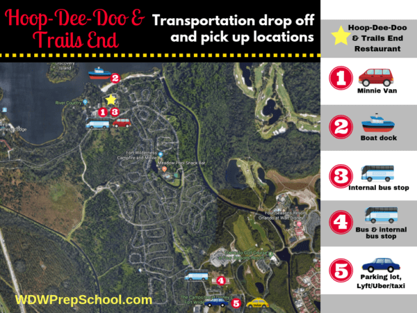 How to get to Hoop Dee Doo and Trails End