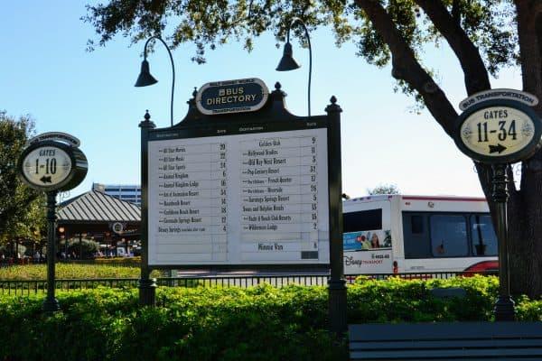 Disney bus stop directory