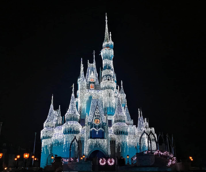 Dream lights on Cinderella Castle