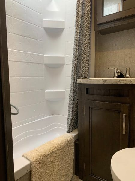 Bathroom in the camper
