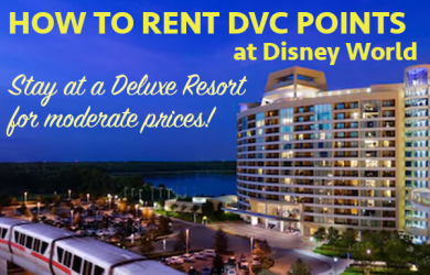 How to rent DVC Points at Disney World