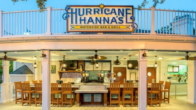 Beach Club Villas - Hurricane Hanna's Grill (lunch) – Temporarily Closed
