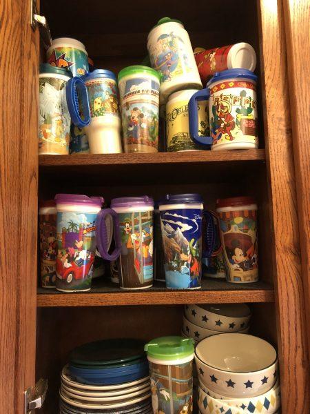 Cabinet of mugs