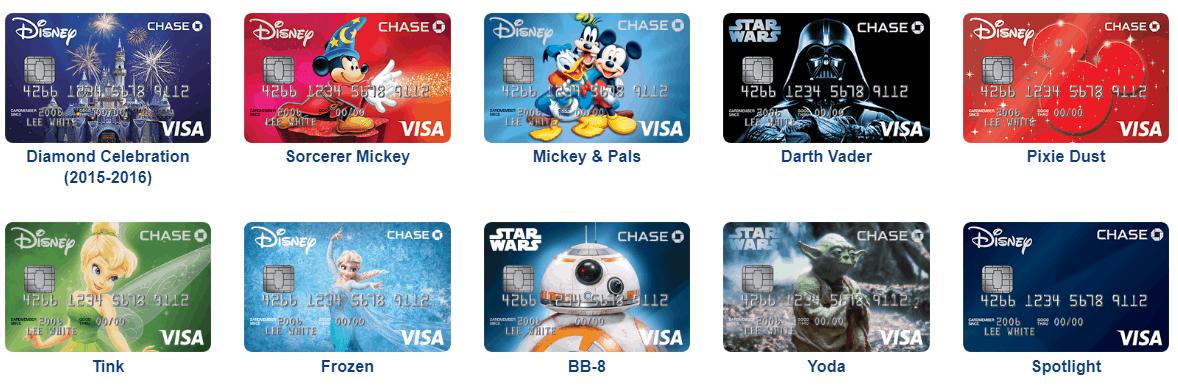 Disney visa card designs