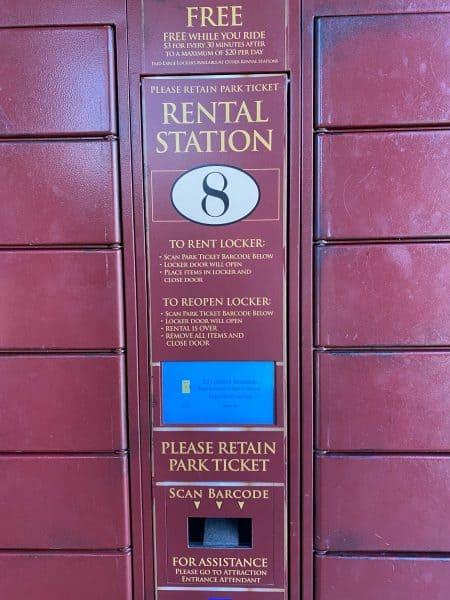 locker rentals at universal