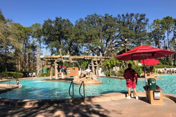 Port Orleans Pool January at Disney World