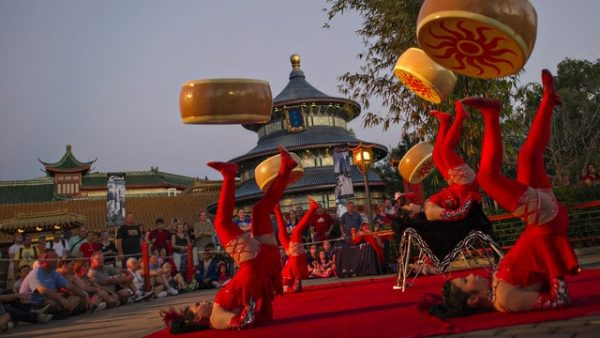 jeweleddragonacrobats 600x338 - Guide to all Epcot rides and attractions