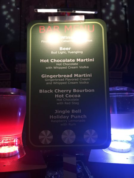 Jingle Bell Jingle BAM! bar menu