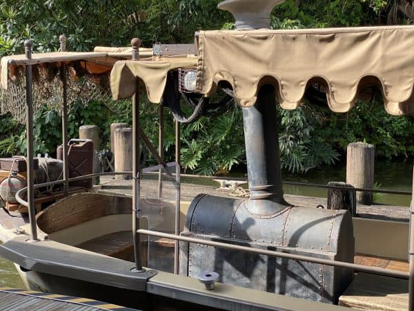seating on the jungle cruise boat