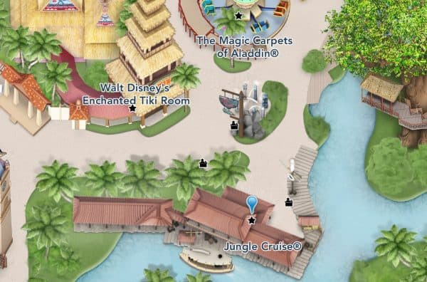 jungle cruise location on the disney map