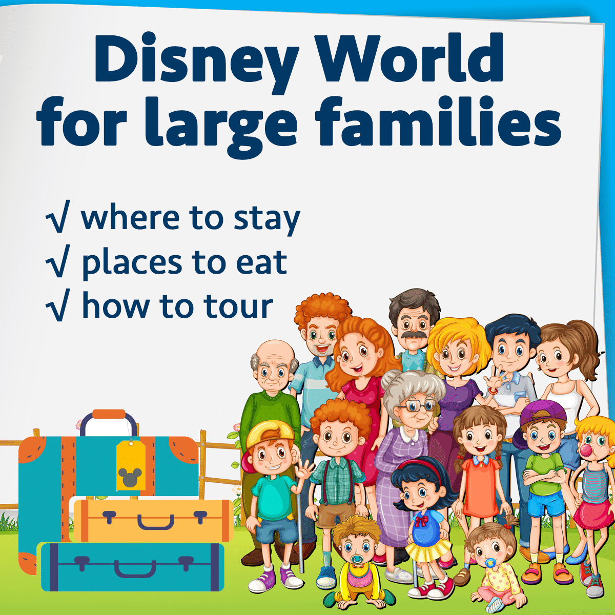 Doing Disney World With Large Families Wdw Prep School