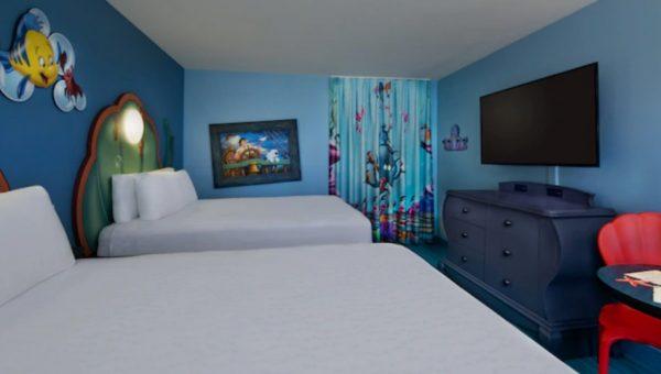 Standard Little Mermaid room at Art of Animation