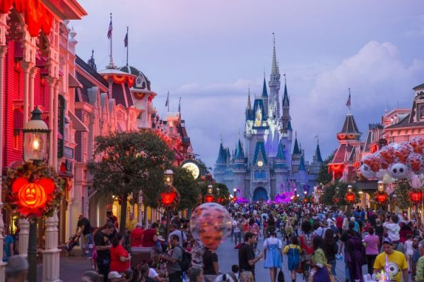 magic kingdom during the party 600x400 - What are the best tips for planning your Mickey's Not-So-Scary Halloween Party costumes?