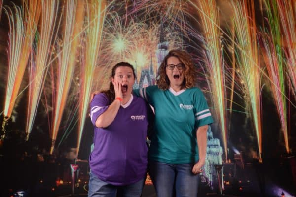 Fireworks at Magic Kingdom backdrop
